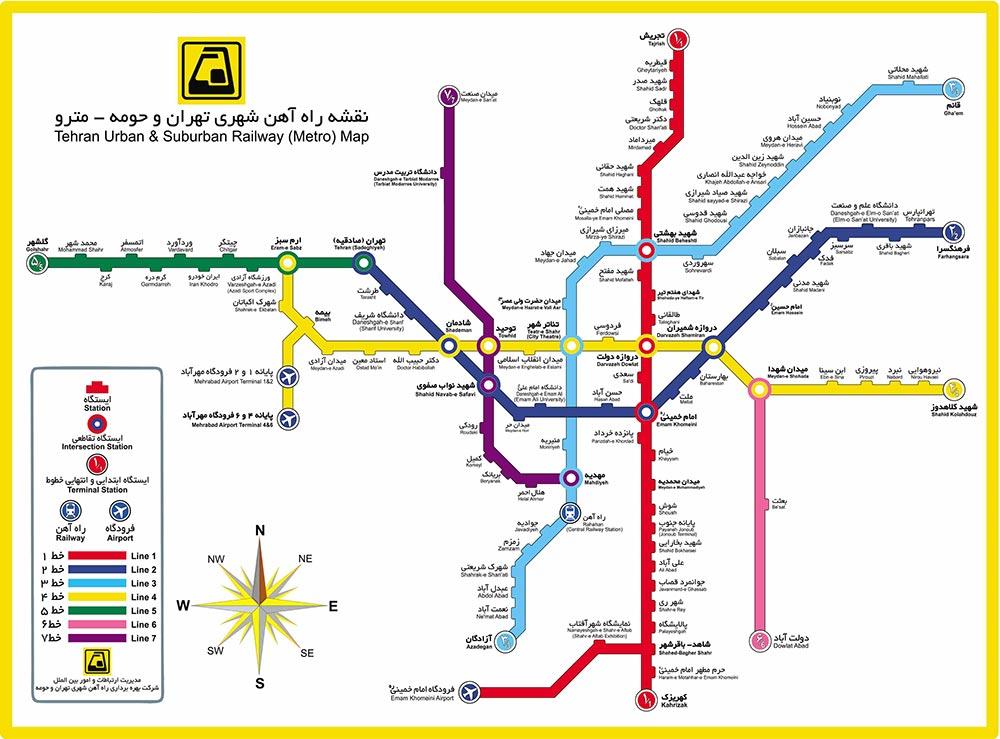 نقشه مترو یک نمونه طراحی تجربه کاربر و یو ایکس رایتینگ است. مترو به عنوان خدمت و نقشه بهعنوان متن تجربه کاربر
