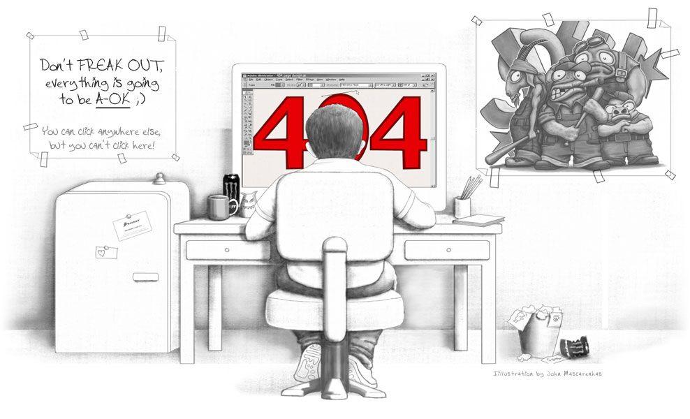 محتوای زمینه در طراحی متن خطا ۴۰۴