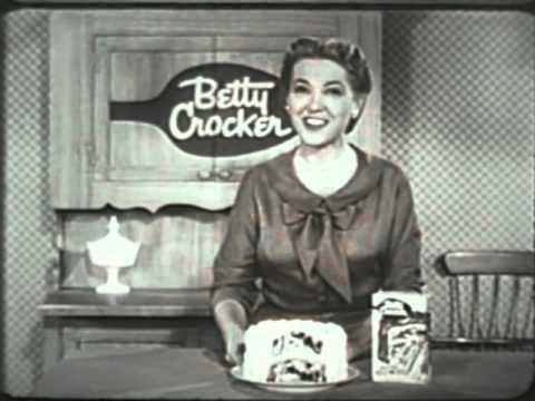 محصول بدون اصطکاک برتی کوپر به خانمهای آشپز احساس عذاب وجدان میداد - تصویر تبلیغاتی برتی کوپر Betty Crocker در دهه ۵۰ میلادی